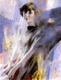 Портрет Марины Цветаевой работы художника Георгия Шишкина