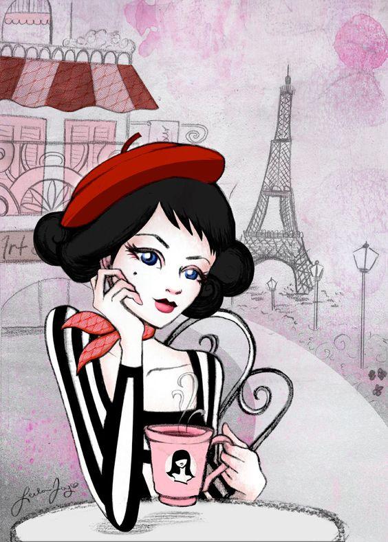 Парижанка рисунки