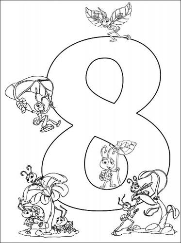 8 цифра раскраска