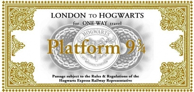 Билет на поезд в хогвартс своими руками 42