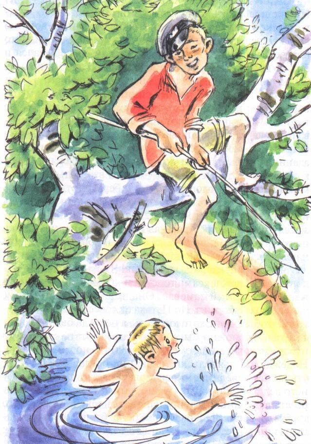 Петька на даче рисунок к рассказу