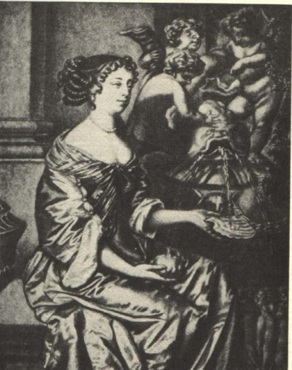 17-ый век, изображение английской актрисы Мэри Сондерсон