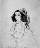 Жорж Санд. Портрет работы А. де Мюссе. 1833