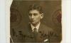 An undated photograph of Franz Kafka