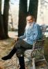 Лев Толстой в Ясной Поляне (1908)