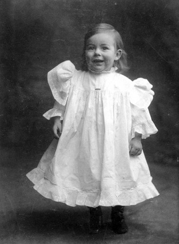 In Baby Dress, 1901