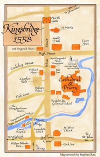 Карта Кингсбриджа 1558 г.
