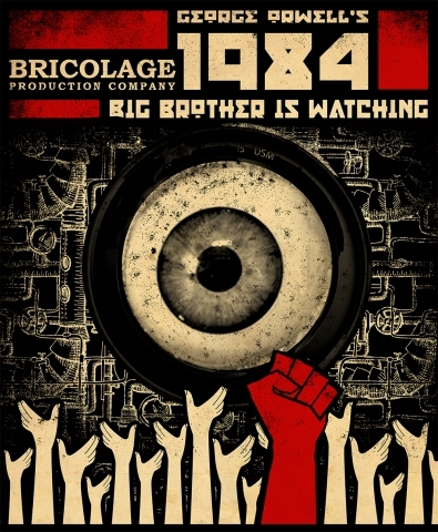 "1984 propaganda thesis Adam gopnik on how president donald trump's disdain for truth and accuracy poses a threat to democracy akin to big brother in george orwell's book ""1984""."