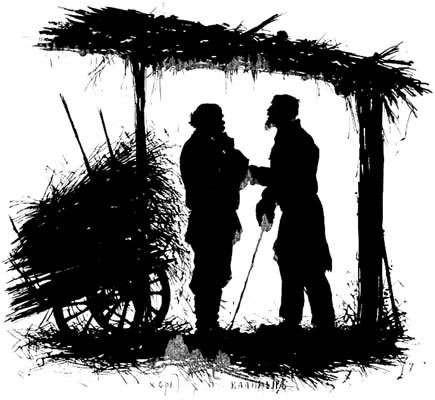 Силуэт. Типы из Записок охотника Тургенева 1883 Хорь и Калиныч.2