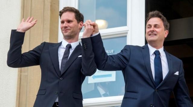 На фото Премьер-министра Люксембурга с женой