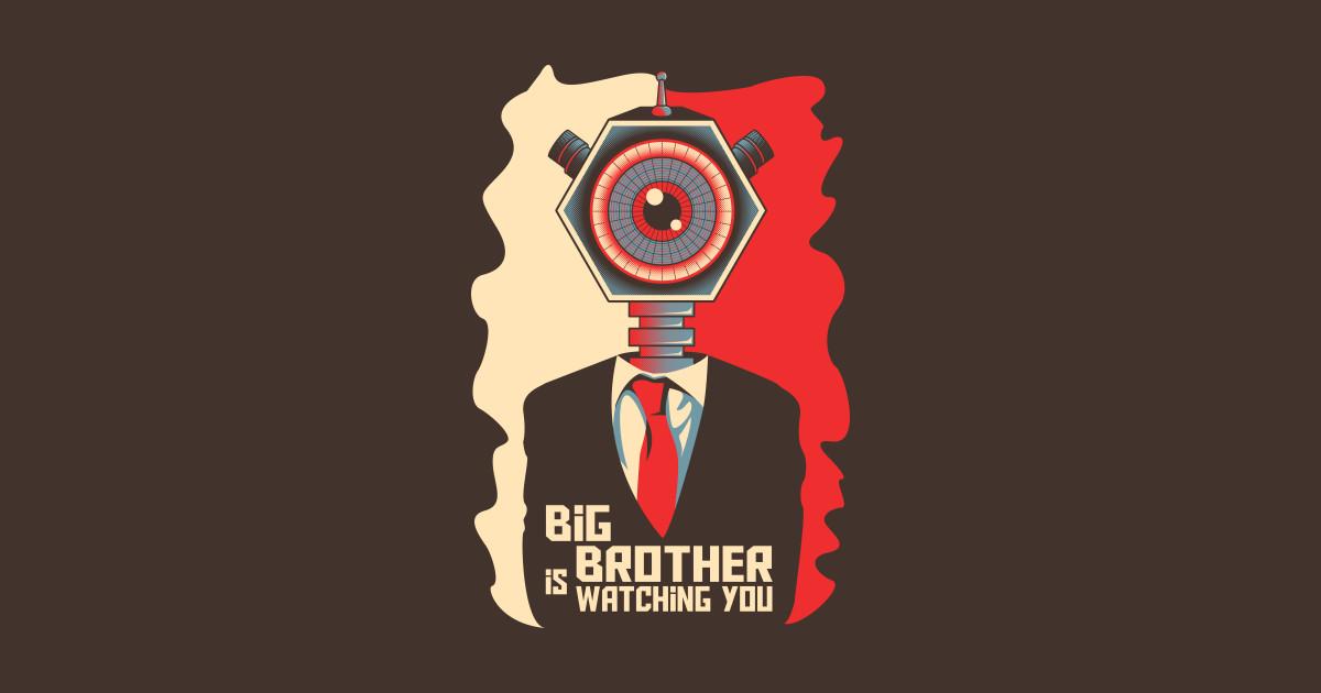 Постер большой брат следит за тобой