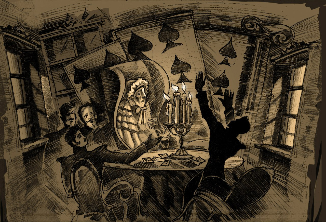 Картинки по запросу Пиковая Дама пушкин