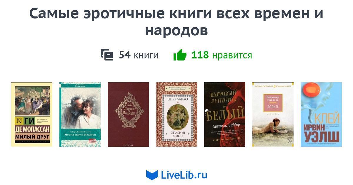 Подборка книг «Самые эротичные книги всех времен и народов